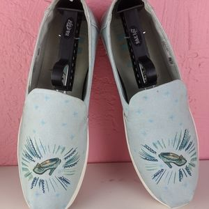 Tom's Disney blue Cinderella glass slippers shoes